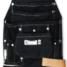 10 Pocket Split Leather Black Tool Pouch (Pack of: 1) - AS-97816 - ToolUSA