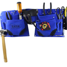 12 Pocket Utility Tool Pouch with Belt, Blue (Pack of: 1) - AS2103A-BLU