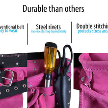 12 Pocket Utility Tool Pouch with Belt, Pink - AS2103A-PNK
