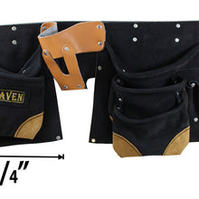 11 Pocket Utility Tool Pouch with Belt, Black (Pack of: 1) - AS2103AA-BLK
