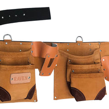 11 Pocket Brown Split Leather Tool Pouch (Pack of: 1) - AS2103AA - ToolUSA