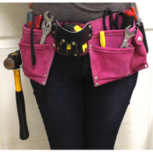 7 Pocket Double Tool Pouch, Nylon Belt (Pack of: 1) - AS2103S-PNK