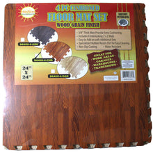 4 Pc. Cushioned Floor Mats - Cherry Wood (Pack of: 1) - D6400-4-CHR