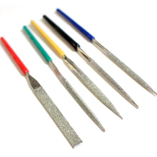 5 Piece Diamond Files, Color Coded (Pack of: 1) - F-90245