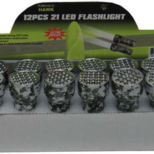 12 Pc. 21 LED Flashlight - Camouflage (Pack of: 1) - FL-03012 - ToolUSA