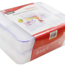 Plastic Food Storage Containers Set (14 pc) (Pack of: 1) - LKCO-43007