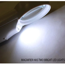 6x Hand-Held Magnifier, 2 LEDs (Pack of: 1) - CR-00843