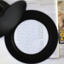3x Black Tabletop LED Magnifier Lamp (Pack of: 1) - CR-29255