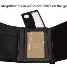 2x/4x Fresnel Lens Wallet Magnifier, Black (Pack of: 1) - MG-90554