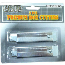 2 Piece Carton Cutters - Retractable Blades (Pack of: 1) - PK9032-YW