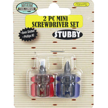 2 Piece Mini Stubby Screwdrivers (Pack of: 1) - PS-89602