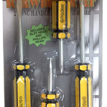 4-Piece Screwdriver Set (Pack of: 1) - PS304-YW