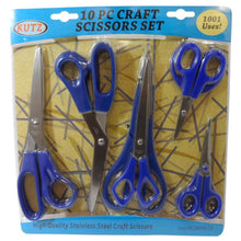 10 Pc. Assorted Scissors (Pack of: 1) - SC-88011 - ToolUSA