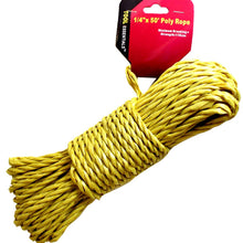 "All Purpose 1/4"" x 50 Feet Poly Rope (Pack of: 2) - LHEN-5912-Z02"