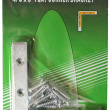 4 Piece Flat Corner Bracket Set (Pack of: 2) - HW-06430-Z02