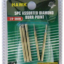 5 Pc. Diamond Coated Burr Point Set (Pack of: 2) - TJ04-04651-Z02