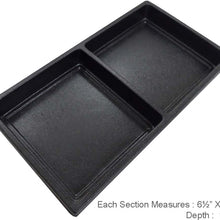 2 Section Black Tray Insert (Pack of: 2) - TJ-91195-Z02