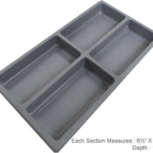 4 Section Gray Tray Insert (Pack of: 2) - TJ-91172-Z02