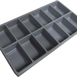 12 Section Gray Plastic Tray (Pack of: 2) - TJ-91170-Z02 - ToolUSA