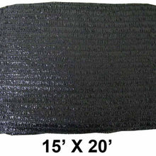 15' x 20' Black Sunshade Net (Pack of: 1) - TSB-71520 - ToolUSA