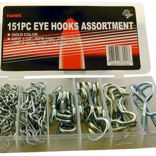 151 Piece Assorted Size Hook & Eyes (Pack of: 1) - HW-83001 - ToolUSA