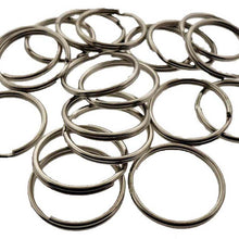 100 Pc. Silver Color Key Rings (Pack of: 1) - HW-99041