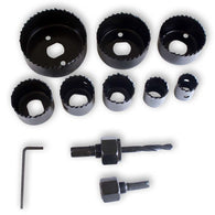 11 Piece Hole Saw Kit (Pack of: 1) - TZ02-93111 - ToolUSA