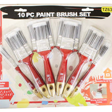 10 Pc. Paint Brush Set (Pack of: 1) - TZ6377 - ToolUSA