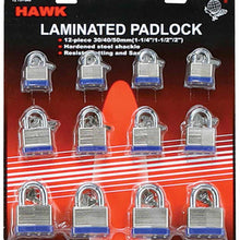 12 Piece Assorted Padlocks - 30, 40, 50 mm (Pack of: 1) - LOCK-73134
