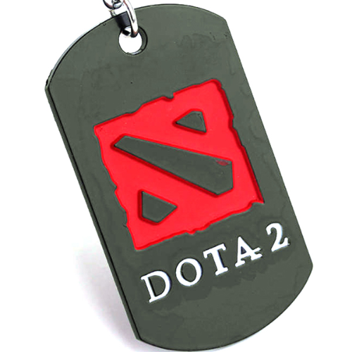 Dota 2 Dog Tag Key Chain