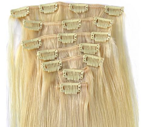 BLONDE (613) BRAZILIAN STRAIGHT CLIP-INS - HenJa Hair