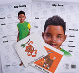 English boardbook and my body/face poster hamper