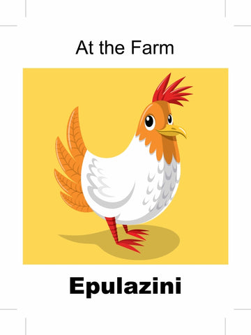 At the Farm - Epulazini Ndebele bilingual picture book
