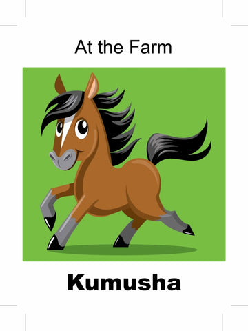 At the Farm - Kumusha Shona bilingual childrens book