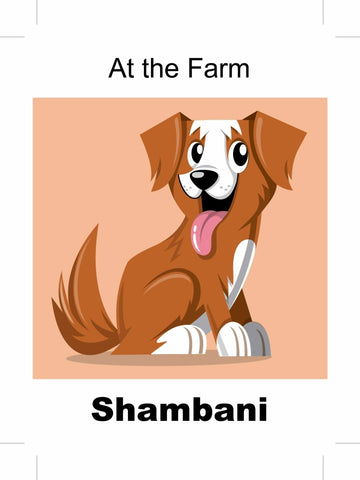 At the Farm- Shambani Swahili children's bilingual picture book
