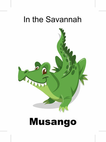 In the Savannah- Musango Shona picture book bilingual