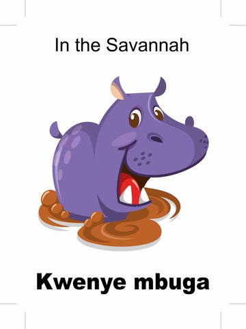 In the Savannah - Kwenye mbuga Swahili bilingual childrens picture books