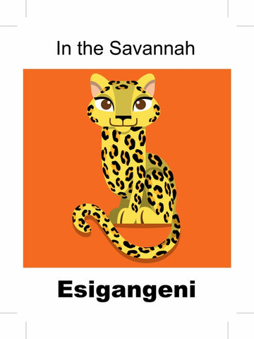 In the Savannah - Zulu bilingual picture book