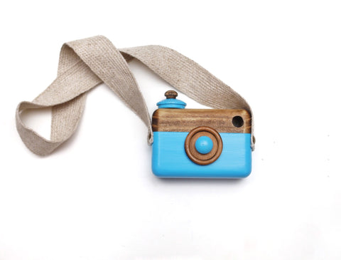 Caribbean Blue Classic Cam with Jute Strap