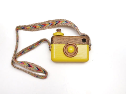 Yellow Classic Cam with Rainbow Turk Strap