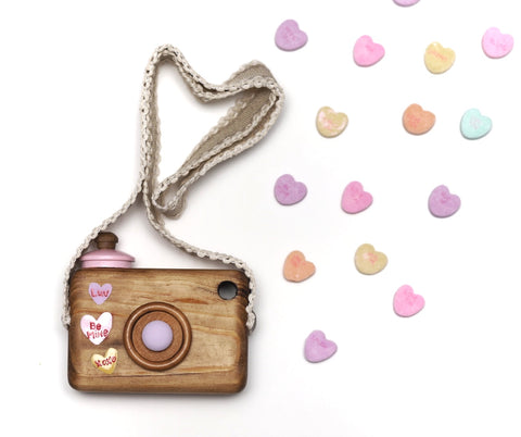 OOAK {Candy Hearts} Valentine's Camera