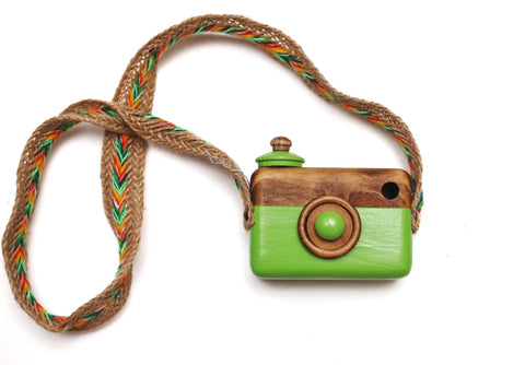Green Classic Cam with Rainbow Turk Strap