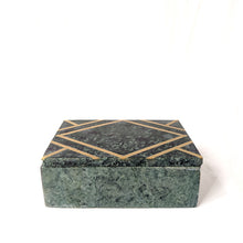 Load image into Gallery viewer, Green Stone Marble Box