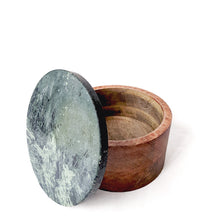 Load image into Gallery viewer, Green Stone Round Wooden Box