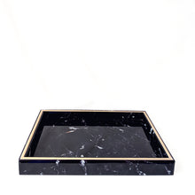 Load image into Gallery viewer, Black Glass Marble Tray