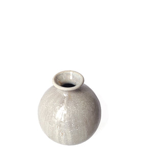 Small Glazed Round Vase
