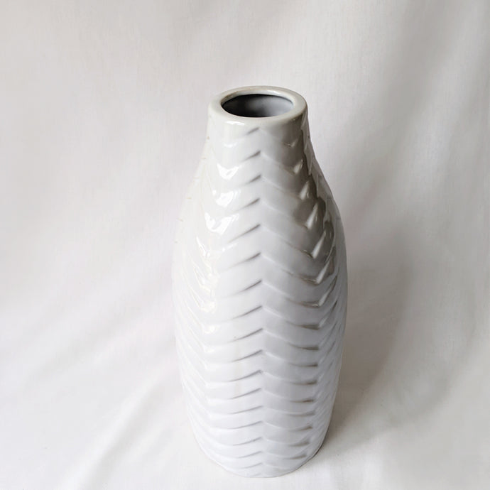 White Glazed Ceramic Vase