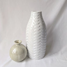 Load image into Gallery viewer, White Glazed Ceramic Vase