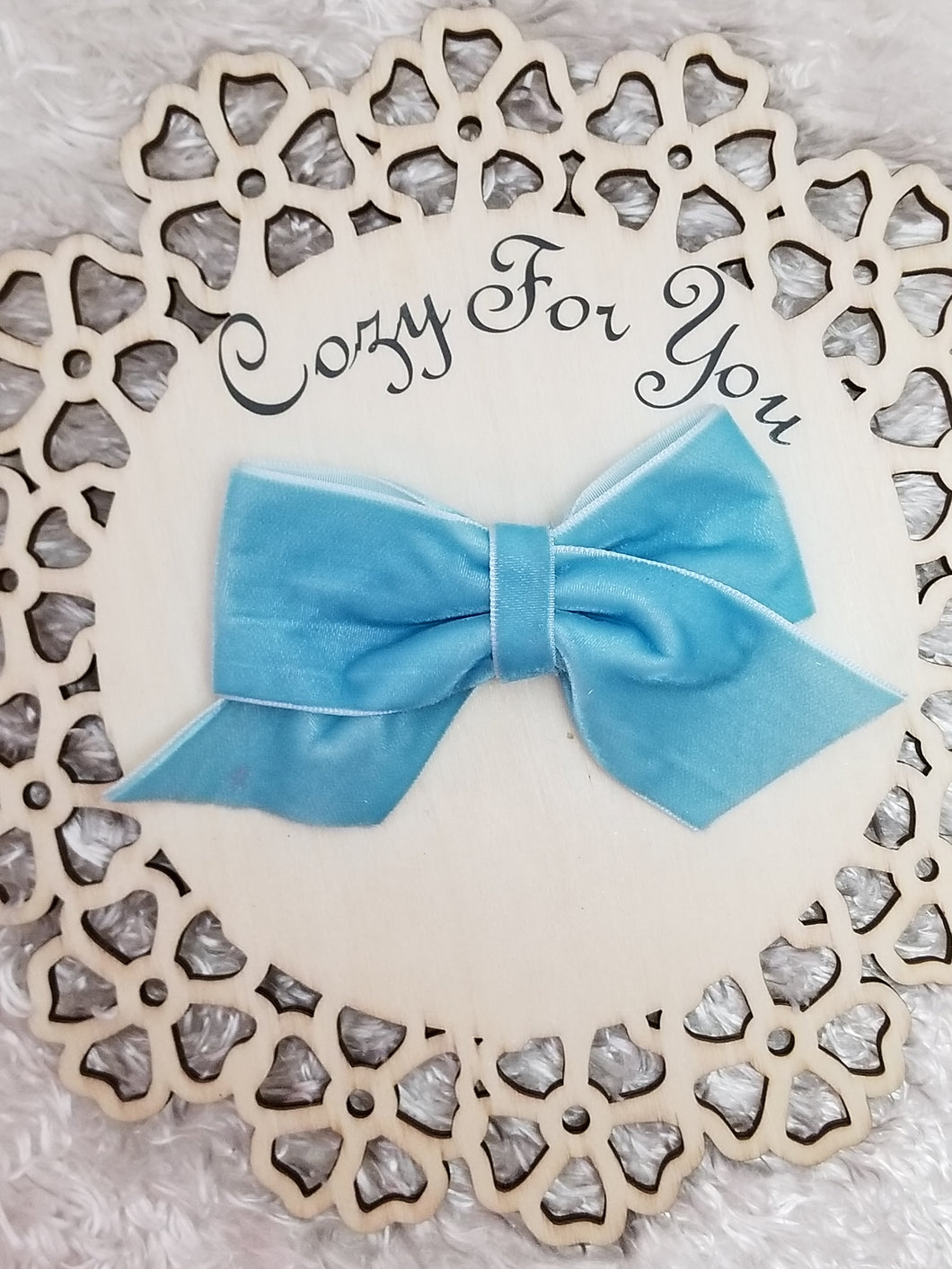 Emmy- Sky Blue Velvet Ribbon