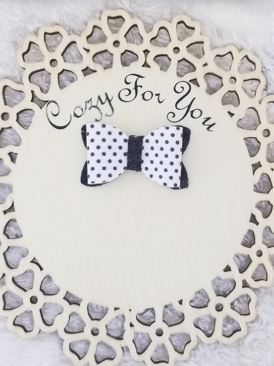 Carly- Black Polka Dots